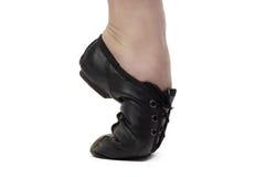 Immagine della ragazza che sta sulla punta dei piedi Fotografie Stock Libere da Diritti