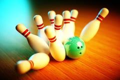 Immagine della scena di bowling Immagine Stock