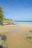 Immagine della spiaggia towan Fotografie Stock Libere da Diritti