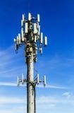 Immagine della torre di comunicazioni dell'antenna mobile di Internet di comunicazione Fotografia Stock