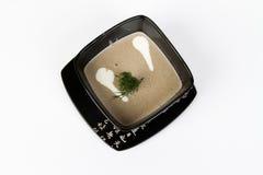 Immagine della zuppa di fungo saporita Fotografie Stock Libere da Diritti