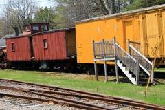 Immagine delle automobili di scatola antiche luminose e variopinte, museo del carrello della spiaggia, Kennebunkport, Maine, 2016 Fotografia Stock Libera da Diritti