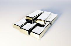 Immagine delle barre d'argento Fotografia Stock