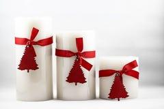 Immagine delle candele di Natale fotografia stock