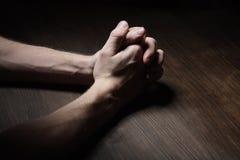 Immagine delle mani di preghiera Fotografia Stock Libera da Diritti