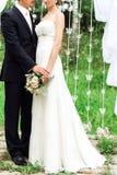 Immagine delle persone appena sposate che stanno insieme fotografia stock libera da diritti