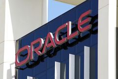Immagine delle sedi di Oracle nel Dubai Oracle Corporation ? una societ? multinazionale americana di tecnologie informatiche fotografia stock