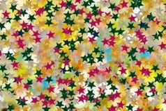 immagine delle stelle festive decorative su un fondo bianco Fotografia Stock Libera da Diritti