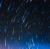 immagine delle tracce lunghe della stella di esposizione Fotografia Stock