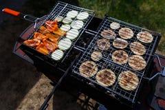 Immagine delle verdure sulla griglia fotografia stock
