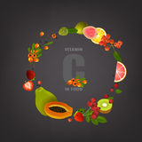 Immagine delle vitamine della scatola Fotografie Stock