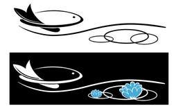 Immagine dello symbbbol dei pesci Immagine Stock