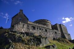 Immagine dettagliata del castello a Edimburgo Immagine Stock