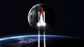 Immagine di alta risoluzione di decollo della navetta spaziale immagini stock