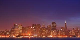Immagine di alta risoluzione di panorama della scena di notte nella S Fotografie Stock