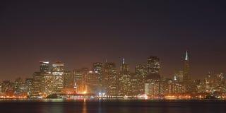 Immagine di alta risoluzione di panorama della scena di notte nella S Fotografie Stock Libere da Diritti