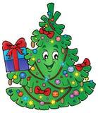 Immagine 1 di argomento dell'albero di Natale Fotografia Stock Libera da Diritti