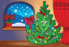 Immagine 3 di argomento dell'albero di Natale Immagine Stock