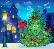 Immagine 2 di argomento dell'albero di Natale Fotografie Stock Libere da Diritti
