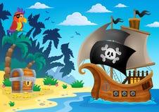 Immagine 5 di argomento della nave di pirata royalty illustrazione gratis
