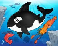 Immagine 9 di argomento di fauna dell'oceano Immagini Stock Libere da Diritti