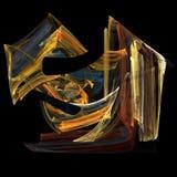 Immagine di arte di frattalo della fiamma Illustrazione di Stock