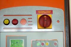 Immagine di avvertimento sul pannello di controllo Fotografia Stock Libera da Diritti