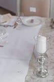 Immagine di bello insieme della tavola di nozze Immagini Stock