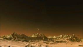Immagine di bello spazio con i pianeti Fotografia Stock