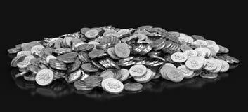 Immagine di bitcoin d'argento Immagine Stock