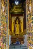 Immagine di Buddha con la scultura della dea Fotografia Stock Libera da Diritti