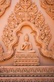 Immagine di Buddha con la scultura tradizionale tailandese Immagine Stock Libera da Diritti