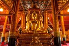 Immagine di Buddha di Wat Phu Mintr, provincia di Nan, Tailandia Fotografia Stock Libera da Diritti