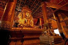 Immagine di Buddha di Wat Phu Mintr, provincia di Nan, Tailandia Fotografie Stock