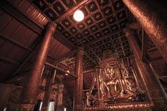 Immagine di Buddha di Wat Phu Mintr, provincia di Nan, Tailandia Fotografia Stock