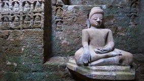 Immagine di Buddha in Mrauk U, Myanmar Fotografie Stock