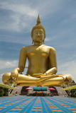Immagine di buddha, muang di Wat, Angthong, Tailandia Fotografia Stock
