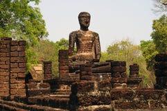Immagine di Buddha nel parco storico di Kamphaeng Phet, Tailandia fotografia stock libera da diritti