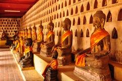 Immagine di Buddha in una fila Fotografia Stock Libera da Diritti