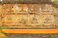 Immagine di Buddha a Wat Jed Yod, Chiang Mai, Tailandia Immagine Stock Libera da Diritti