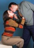 Immagine di colore delle coppie sensuali fotografie stock