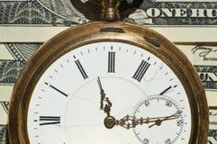 Immagine di concetto dei soldi e di tempo Fotografia Stock