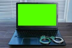 Immagine di concetto del crimine informatico Fotografia Stock Libera da Diritti