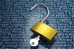 Immagine di concetto delle perdite di informazioni e di vulnerabilità della sicurezza Fotografie Stock Libere da Diritti
