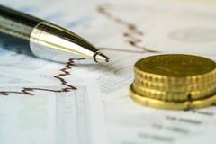 Immagine di concetto di analisi degli investimenti Fotografie Stock Libere da Diritti
