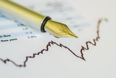 Immagine di concetto di analisi degli investimenti Immagini Stock Libere da Diritti