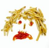 Immagine di concetto di salute degli alimenti a rapida preparazione Immagine Stock
