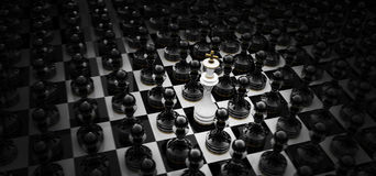 Immagine di concetto di scacchi Immagini Stock
