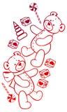 Immagine di contorno degli orsacchiotti Clipart del quadro televisivo Immagini Stock