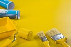 Immagine di Copyspace degli strumenti della pittura Fotografia Stock
